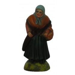 Pastora velhinha com cesta...