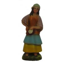Pastora com pandeiro na mão