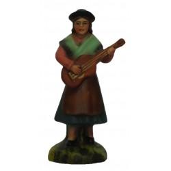 Pastora a tocar viola