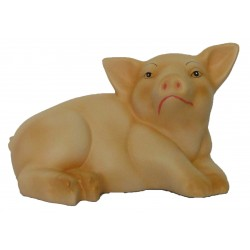 Porco mealheiro deitado