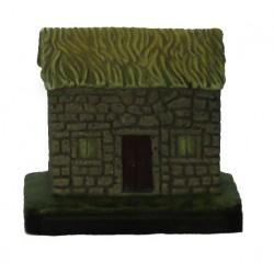 Casa em pedra com telhado...